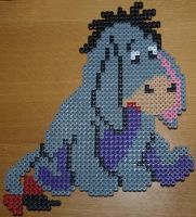 Eeyore - Perler or Hama by Chrisbeeblack