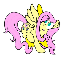 Fluttershy digitalized by AgentBlackBlood