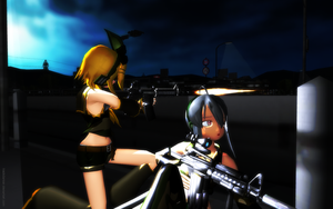 MMD ATI Haku and Rin by Trackdancer