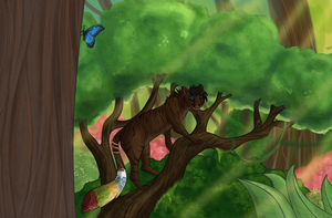 Up in the trees by D-eer