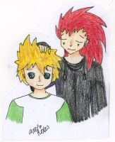 Axel and Roxas :3 by FawkesFyre