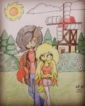 Hanging out in Fazbear Hills: Jack x Chickadee  by JackJack2017