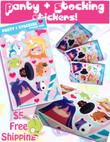 Panty and Stocking Stickers by cute-clover