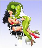 She-Hulk and Friend by yatz