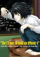 The L's way to hold an iPhone4 by bbmbbf