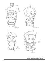 Chibi Sketches: 01 by Sketchfighter316