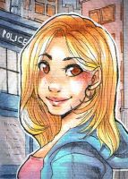 Doctor Who - Rose Tyler ACEO by Pandablubb