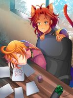 -- Commission: Caught You Napping! -- by Kurama-chan