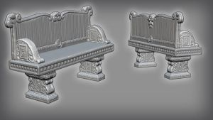 Stone Bench - High Poly Sculpt by Stoop--Kid