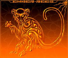 Tribal Monkey by ember-reed