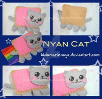Nyan Cat Keychain Plush by HidamariNoAya