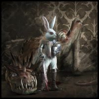 Rabbit and Dragon by Alexey-Konev