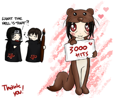 3000 HITS by jessicacicca
