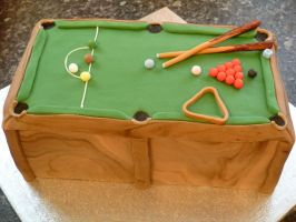 Snooker Table Cake by Rebeckington