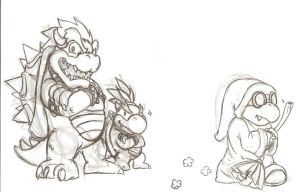 Bowser and Jr. by BerserkerOx