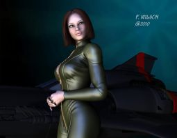 The girl from the Galactica by Nicholas2004