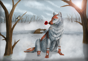 The wolf and the bird by neko-systeme