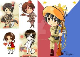 Hetalia Philippines Fan Art and relation by Mildemme