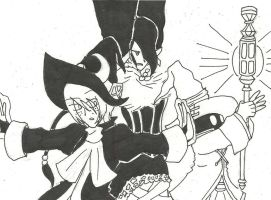 Black Mages of FF by Katfreak