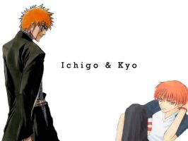 Ichigo and Kyo by moonlit-dreamer