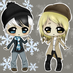 Winter and Spring Chibi Male Adopts - OPEN by GrintheCreep