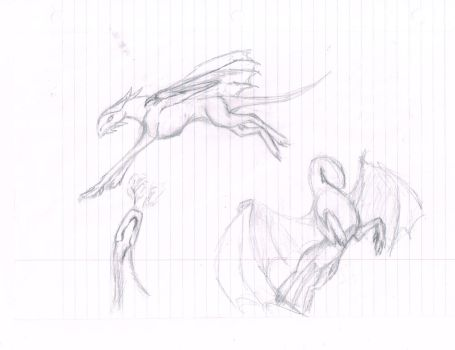 Five Minute Dragon Sketch by Arokis666