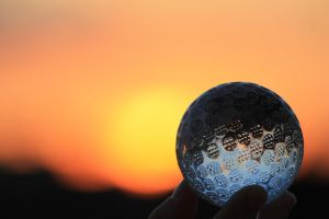 Glass golf ball by RezaCerna