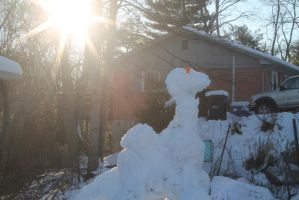 snow dinosaur  sun by willartmaster
