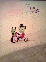 Invader Zim - Riding his Tricycle by InvaderBlitzwing