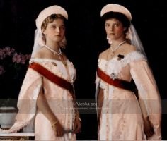 Grand Duchesses of Russia 1913 by VelkokneznaMaria