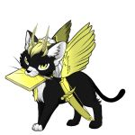 Winged cat- moon by SnowySongz