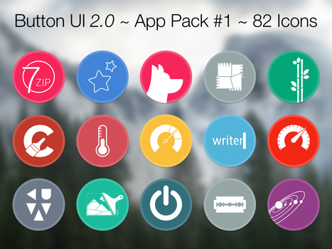 Button UI 2.0 ~ App Pack #1 by BlackVariant