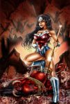 Wonder Woman and Devil by TVC-Designs