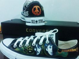 Beatles on Converse by alcat2021
