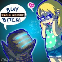 Buy 'Dead Space', bitch by Diamond-Skull