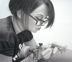 Apprentice....... Pencil and charcoal on paper by StephenAinsworth