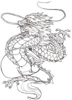 Chines dragon basic tatt by Anarch-inks