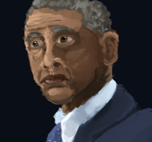 Speed Portrait: Obama by FeatheredSoap