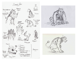 Diamond Dog sketches by TheBearBones