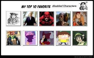 My Top 10 Favorite Disabled Characters by SithVampireMaster27