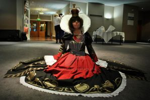 Alice Madness Returns, Red Queen sitting by AhnaDee