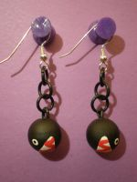 Chain Chomp Earrings by Omonomopoeia