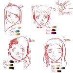 Rough Sketch Character Designs 1 by rosepiramid