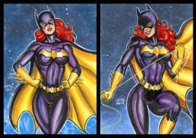 BATGIRL PERSONAL SKETCH CARDS by AHochrein2010
