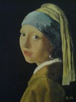 Girl with a Pearl Earring by djokandzo
