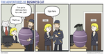 The Adventures of Business Cat - Delivery by tomfonder
