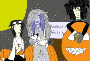 Tim Burton Pumpkin Patch by LovelyLadyAmalthea
