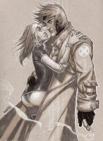 Gambit and Rogue Commission by MicahJGunnell