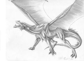 Red Dragon black and white by creativegoth18