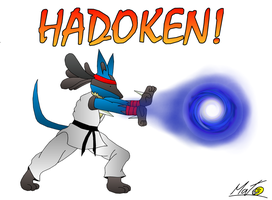 Lucario used Hadoken by pouchnoubout